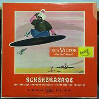 MONTEUX rimsky korsakoff scheherazade LP VG+ LM-1002 Mono USA RCA Record