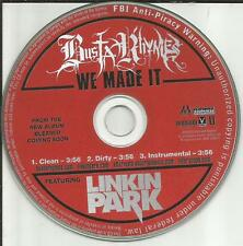 LINKIN PARK w/ BUSTA RHYMES We Made It INSTRUMENTAL & CLEAN DJ PROMO CD Single