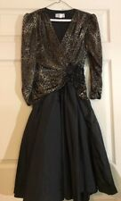 Betsy & Adam Vintage 80s Dress Leopard Print Size S/M?