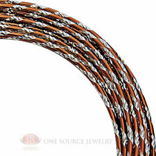 Copper and Silver Diamond Cut Aluminum Craft Wire 12 Gauge Jewelry Wrapping
