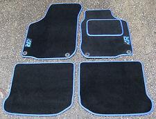 """Tappetini Auto in nero con blue Bordo adatta a VW Golf Mk4 + Blu """"R"""" Logo+"""