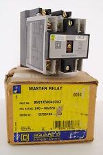 Square D# 8501XMO40V03 AC Control Master Relay, 4-Pole, 600-VAC, 20-Amp, NIB