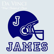Personalized Boy Name American Football Helmet Vinyl Sticker Decal Decoration