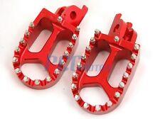 CNC RACING FOOTPEGS KAWASAKI KX250F KX450F YAMAHA RMZ250 RED I FP12