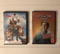 2 Steve Carell Movies 40 Year Old Virgin (DVD, 2005) Evan Almighty (DVD, 2007)