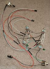 EMG Solderless EZ-INSTALL Wiring KIT Les Paul 9V 2V 2T Long Shaft 3Way SilverWht
