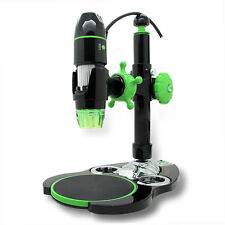 AmScope UBW500X0200M 5X-500X 2MP 8-LED 3D Zoom Digital USB Microscope