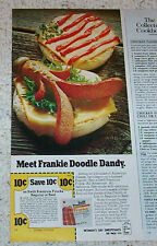 1977 print ad -Swift Franks hot dogs Frankie Doodle Dandy old coupon ADVERTISING