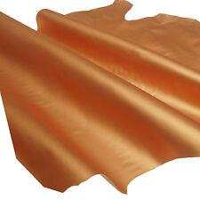 Lammleder 0,8 mm Dick Orange Metallic Design Echt Leder Haut Leather Z63