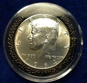 1964 Kennedy U. S. SILVER Half Dollar, UNCIRCULATED, Free Shipping UK, No VAT