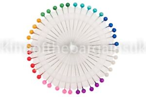 120x PEARL HEAD Straight PINS UPHOLSTERY DRESSMAKERS SEWING PINS CRAFTS