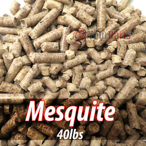 40lbs Of 100% Pure Mesquite Wood Cooking BBQ Pellets Smoker Grill
