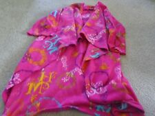 DISNEY SNUGGIE/SLEEVES FOR KIDS PINK POLYESTER FLEECE HANNAH MONTANA PRINT