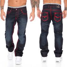 Rock Creek herren designer denim jeans hose dicke zier nähte W29-W44 NEU RC-2092