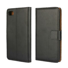 For BlackBerry Z30 Genuine Leather Wallet Cover Case