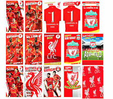 Official LIVERPOOL FC FOOTBALL Birthday Cards Son Brother Dad Other + Gift Wrap