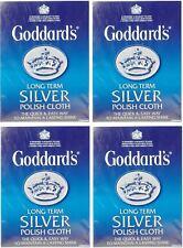 4x plata a largo plazo de Goddard Polaco Pulido deslustre Paño De Limpieza-Libre P&P
