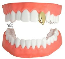 Fang Single Tooth Canine Cap Custom Fit 14k Gold Plated Grillz Hip Hop w/Mold