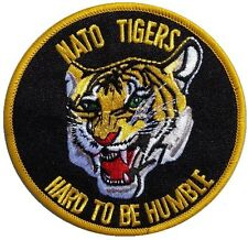 NEW PREMIUM IRON ON PATCH NATO TIGER HARD TO BE HUMBLE NEW ARMY MILITARY SEW ON
