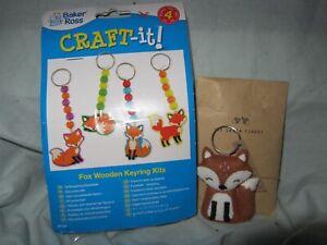 New Fairtrade Felt Fox Keyring & Fox Keyrings Making Kit
