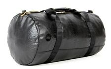MI-PAC Mens Python Duffel Bag - Travel Bag / Luggage - Black with Gold Hardware