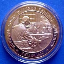 1809 Supreme Court: Chief Justice Marshall - FRANKLIN MINT Solid BRONZE