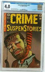 Crime SuspenStories #20  CGC Universal Grade 4.0 Off-White EC. 12/1953-1/1954