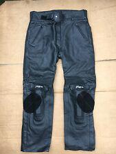 "FIGO Mens Leather Motorbike / Motorcycle Trousers Size UK 40""> 41"" Waist (#75)"