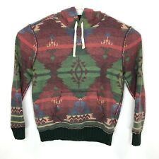 Vtg Polo By Ralph Mens Medium Aztec Hoodie Tribal Hr