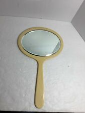 Vintage Handheld Mirror Beveled Glass Plastic Candle 15 X 9 TT051916