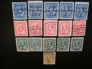Canada 1903/25 King Edward VII, King George V- Collection of 71 Stamps Used