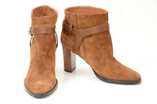 Jimmy Choo light brown L8 R8.5 suede strappy ankle boot shoe NEW $995 MISMATCH