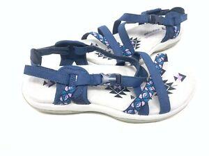 NEW! Skechers Women's REGGAE SLIM VACAY Sport Strappy Sandals Navy #40955 182F