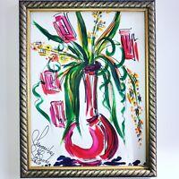 Margarita Bonke Malerei A3 PAINTING art abstrakt abstract Blumen flower kunst Om