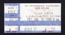 1998 Bob Dylan concert ticket stub Brookville Ny Time Out Of Mind