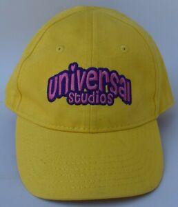 Universal Studios Kids Baseball Cap Hat One Size Strapback Yellow 100% Cotton