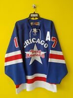 🏒CHICAGO YOUNG AMERICAN #17 KNOP SP HOCKEY JERSEY MENS - 2XL