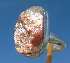 Sonnenstein roh - Ring Gr. 17,25 Silber 925