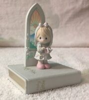 Precious Moments 1991 Holy Bible Communion Girl~Comes With Mini Bible