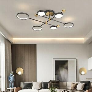 Kitchen Chandelier Lighting Room LED Lamp Black Pendant Light Bar Ceiling Lights