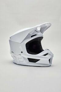 New Fox Racing V1 Plaic Helmet White, Size XS, 26574-008-XS