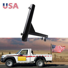 Mictuning Upgraded Version Hitch Mount Flagpole Holder With Anti-Wobble Screws U