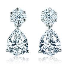 Dangle Teardrop 10*7mm Diamond Crystal Silver Gold Filled Women Studs Earrings