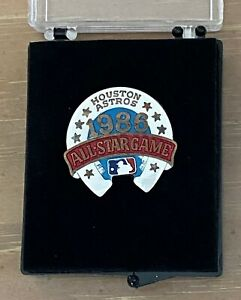 VINTAGE 1986 MLB BASEBALL ALL STAR GAME PRESS PIN With Case - HOUSTON ASTROS