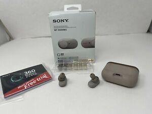 SONY True Wireless Noise Canceling Headphones SILVER WF1000XM3