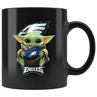 Philadelphia EAGLES Baby Yoda Star Wars Cute Yoda EAGLES Funny Yoda Coffee Mug