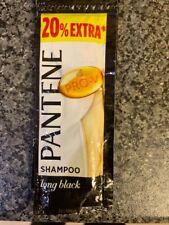 10x Pantene Pro-V Shampoo Long Black Control Travel Holiday Pouch Sachet 8.5ml