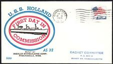 Submarine Tender USS HOLLAND AS-32 COMMISSIONING BECK Naval Cover (1443y)