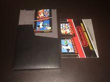 Super Mario Bros. / Duck Hunt w/Manual & Sleeve Nintendo Nes