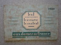 Aux Dames de France 1928 in French Ladies Home Shopping Catalog